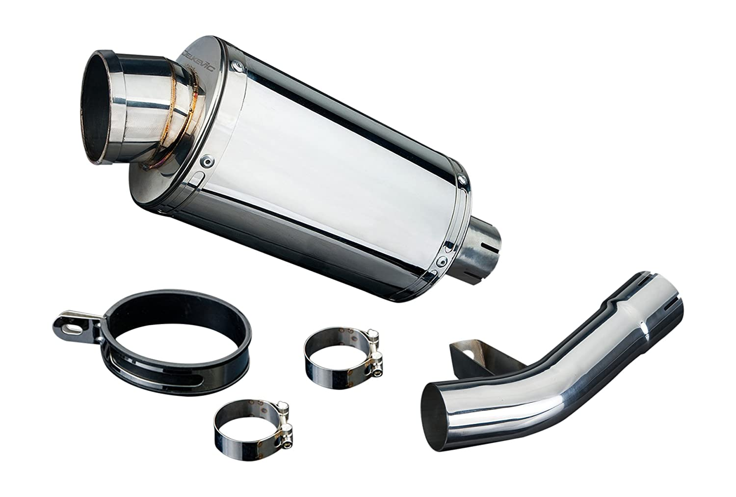 "Suzuki GSF1250 Bandit 9"" Stainless Oval Muffler Exhaust Slip On 07 08 09 16 Delkevic"