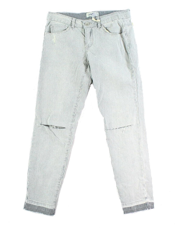 cheap Jolt Blue Pinstriped Junior Slim Skinny Distressed Jeans $46 ...
