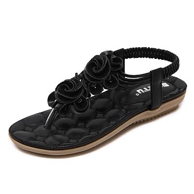 Cystyle 2017 Damen Sandale Klippzehe Flip-Flops Summerschuh im Modern Design (EU 35=ASIA 36, Schwarz)