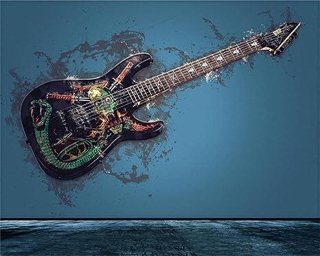 aofoto 10 x 8FT Grunge guitarra Rock música fotografía telón de ...