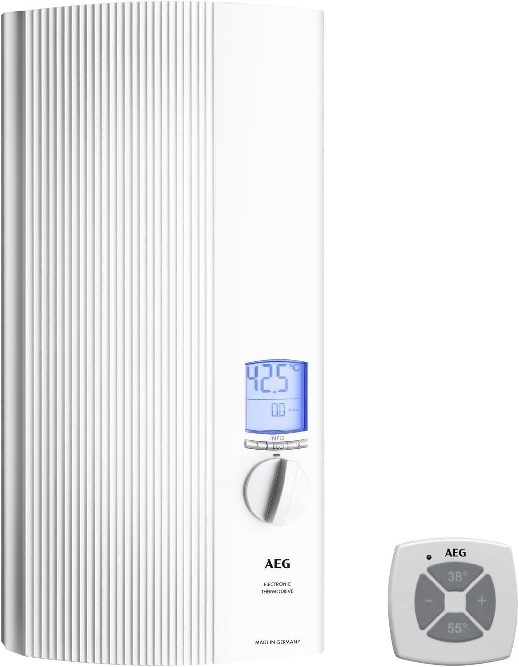 AEG 222399 DDLE ÖKO TD 27 - Calentador de agua eléctrico(27 kW, 400 V), color blanco