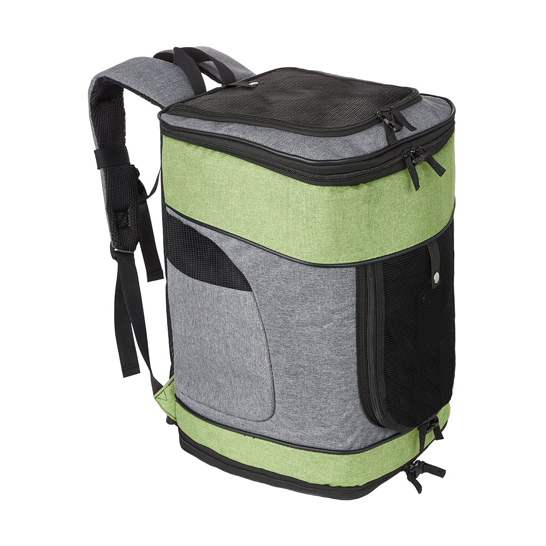 SERWALL Pet Carrier Backpack Small Dogs Cats bag Breathable Mesh Adjustable Padded Shoulder Outdoor Travel Walk, Hiking, Cycling & Fun Your Pet (Green)