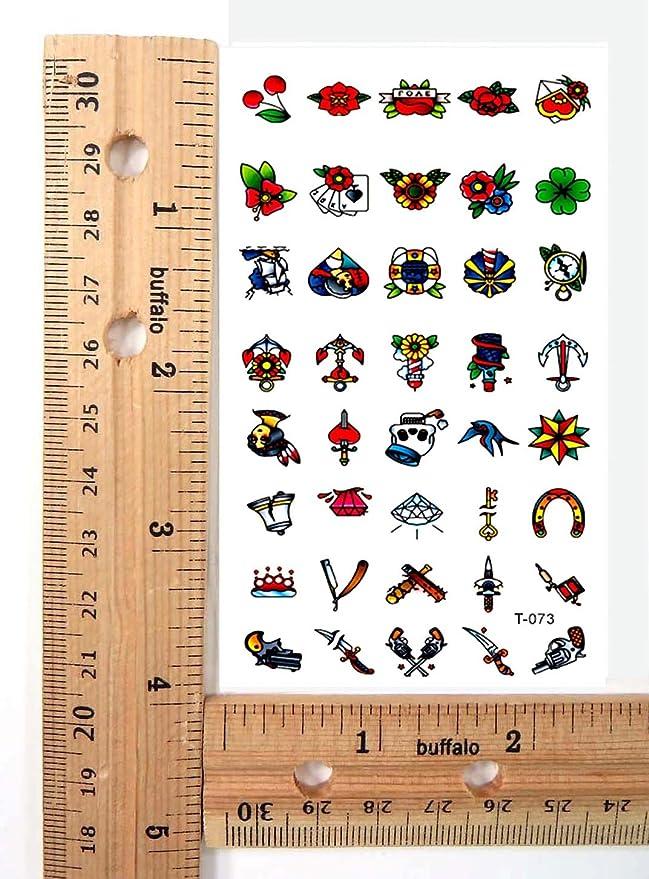 Amazon.com: Ancla Rosa cuchillo mini micro tatuaje temporal ...