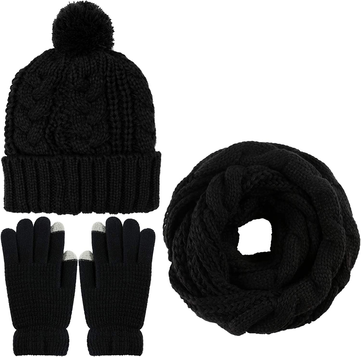 Aneco Winter Warm Knitted...