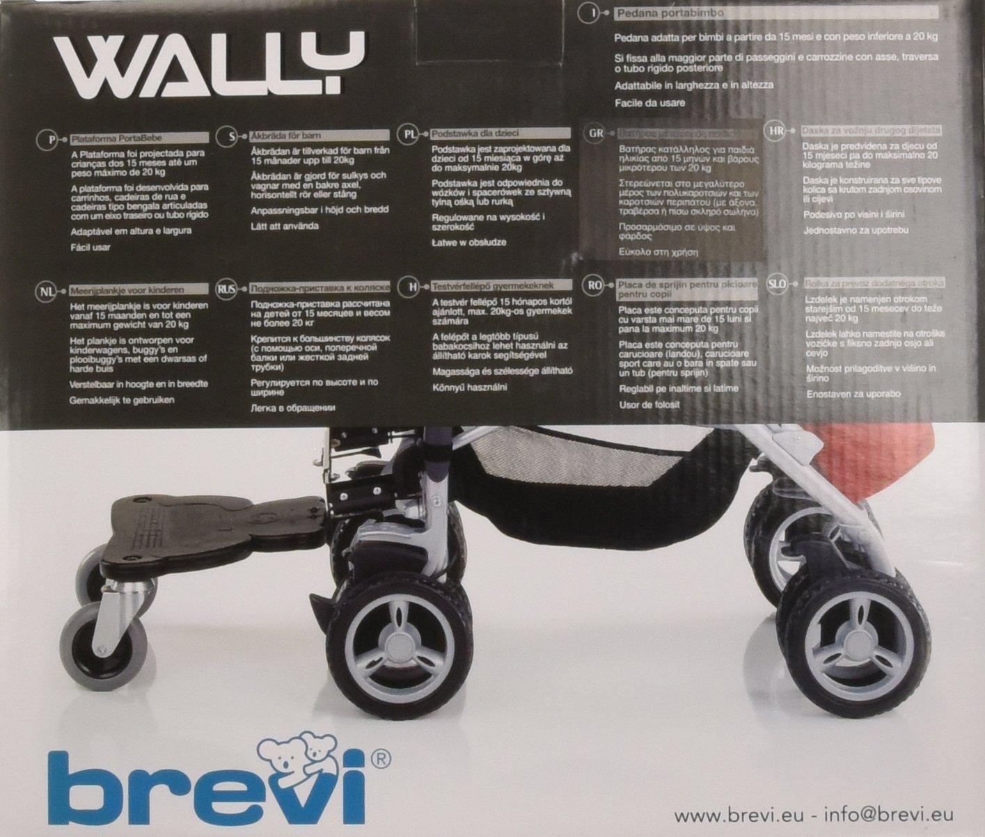 Brevi Wally estribo para carrito o silla de paseo (negro): Amazon.es: Bebé