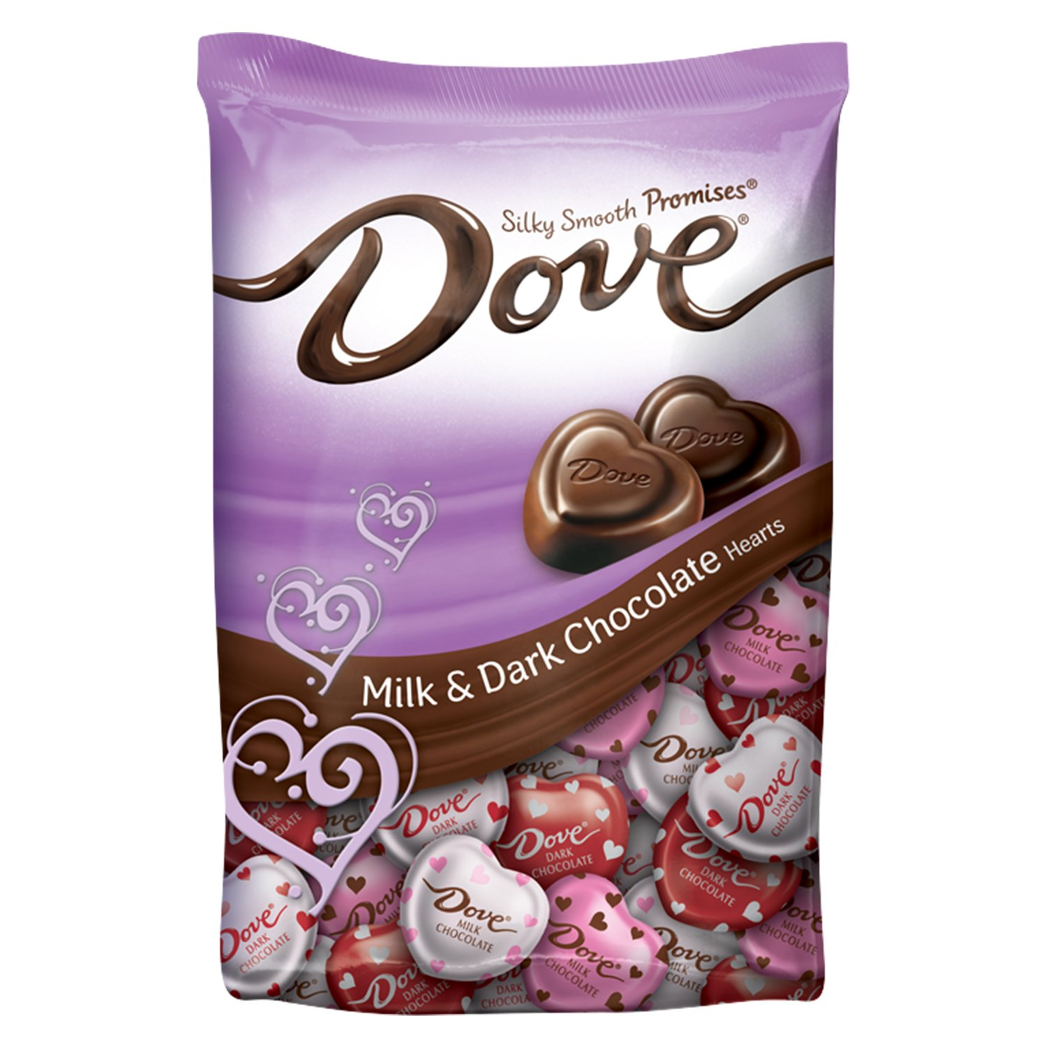 Amazon.com : DOVE PROMISES Valentine Milk and Dark Chocolate Candy ...
