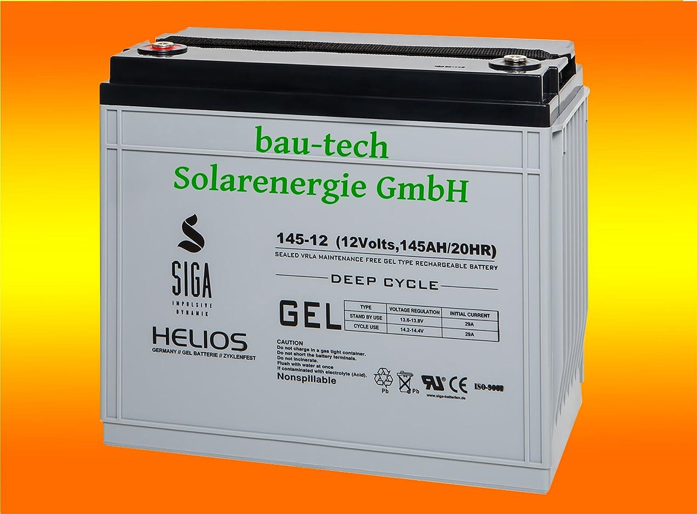 Solarbattererie 145Ah 12V Helios Blei GEL -Deep Cycle- Akku von bau-tech Solarenergie GmbH