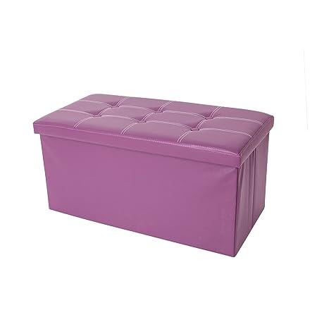 mobili rebecca taburete puff reposapis banqueta salon sillones dormitorio organizador rectangular morado hogar oficina x x cm cod
