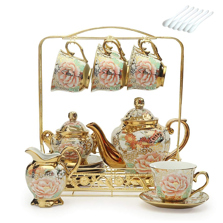 European Ceramic Household Coffee Cup Tea Set Creative Palace English Afternoon Tea Set 15 Sets