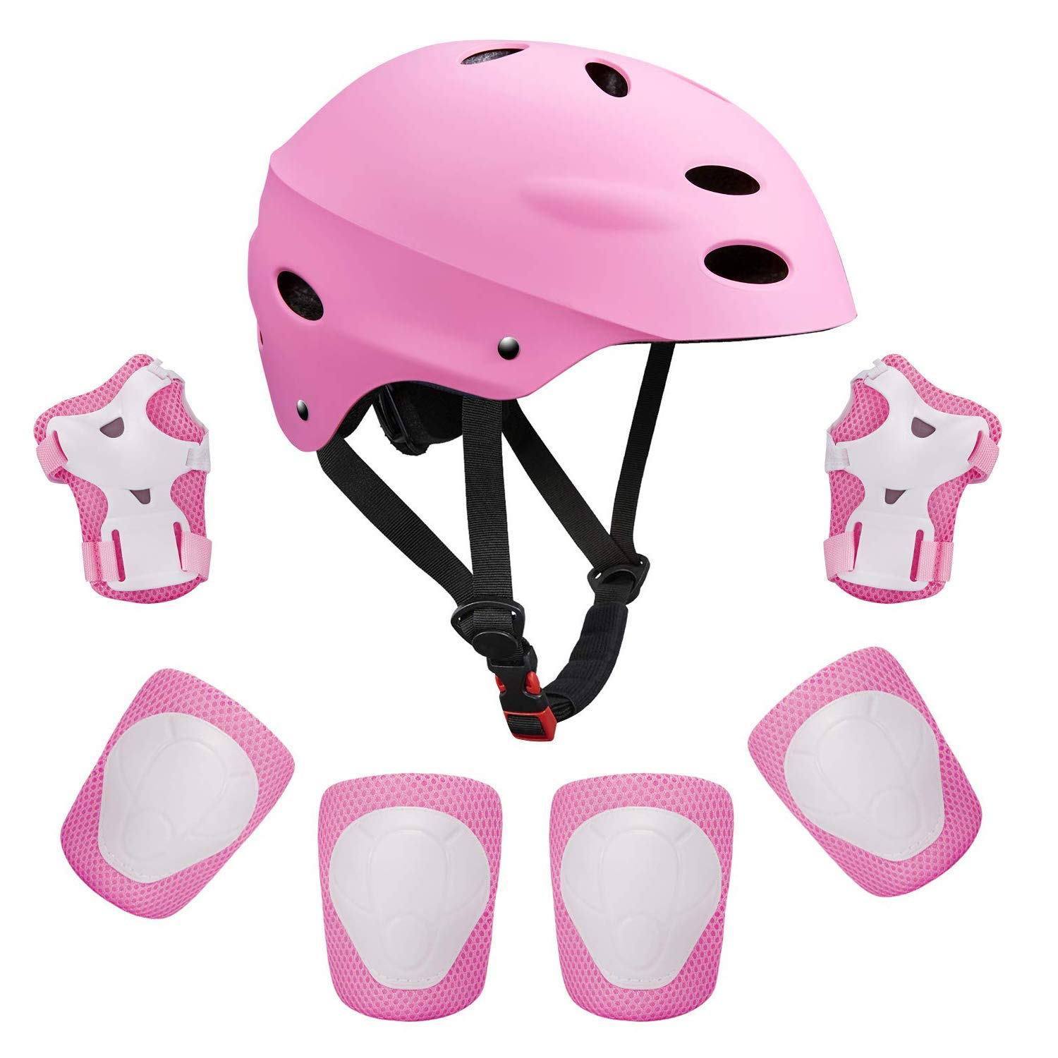 Kids Adjustable Helmet Sports Protective Gear Set Suitable for Ages 3-8 Years Toddler Boys Girls Knee Pads Elbow Pads Wrist Pads for Bike Bicycle Skateboard Scooter Rollerblading