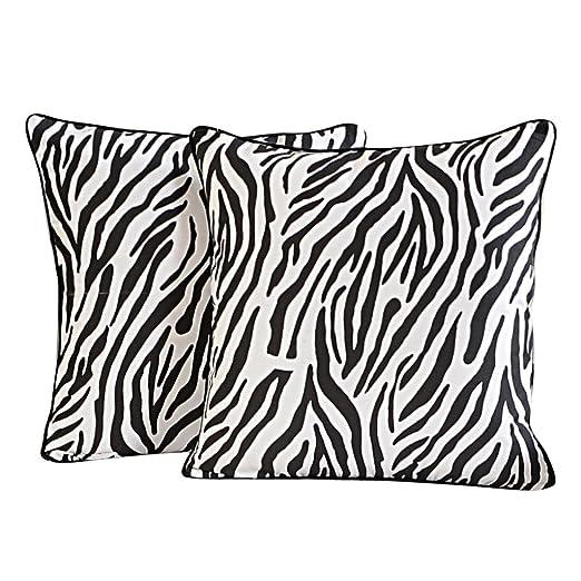 Yuga Décor casero de Zebra Cojín 24 X 24 Pulgadas Impreso ...