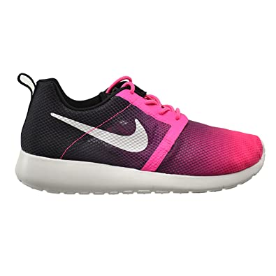 nike roshe one flight weight gs pink pow/ white-black office