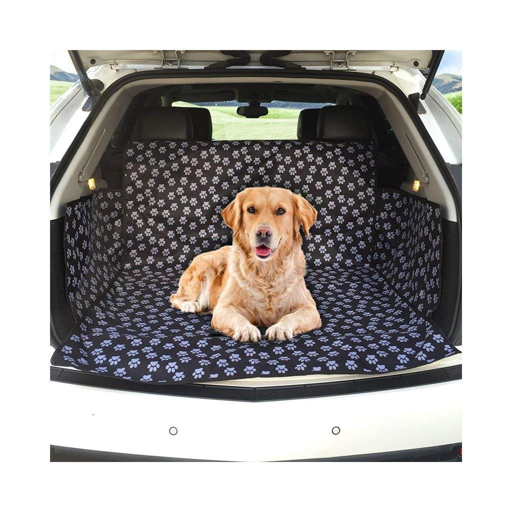 Dog Car trunk mat Boot Liner Car Liner Predector Waterproof Washable Non Slip Fits all Cars Trucks SUV (Cute Dog Claw) Dog Car Seat Cover