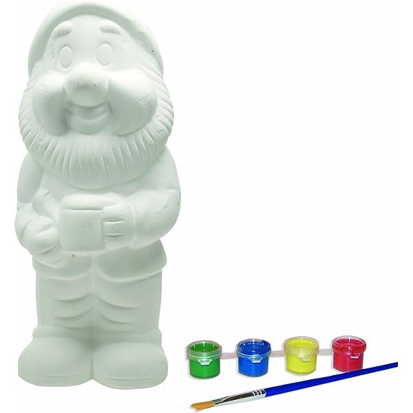 Gnome on Turtle 12 Ceramic Bisque