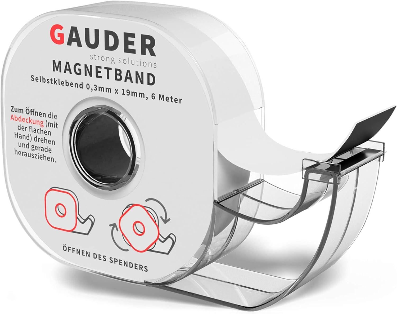 GAUDER Dispensador de Cinta Magnética | Banda Magnética Autoadhesiva | Tira de Imán Adhesiva: Amazon.es: Bricolaje y herramientas