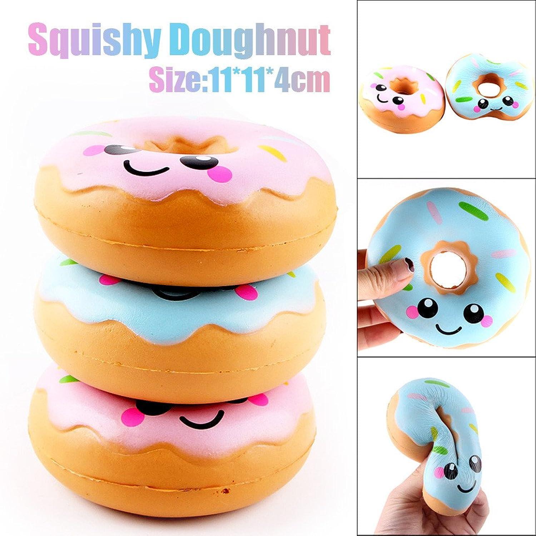 zolimx Donuts Kawaii Squishy Juguete Alivio de TensióN de Levantamiento Lento Para Niños Adultos DkemYmFc56