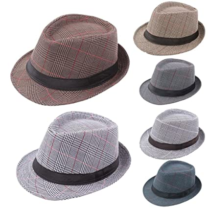 Amazon.com  Fedora Hats for Men 1330aee02e1