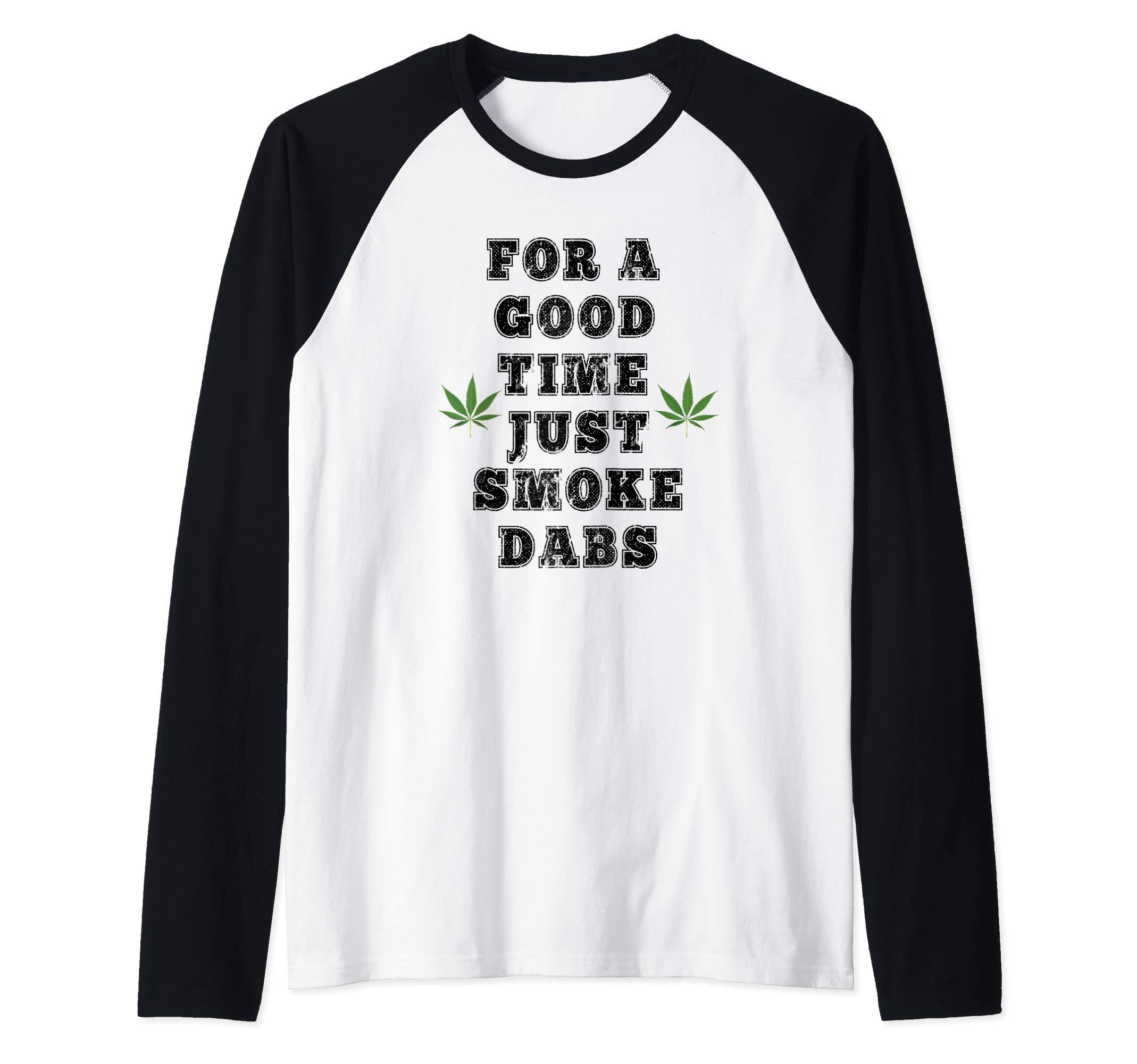 Marijuana Cannabis Hemp Weed CBD 420 Dank Raglan Baseball Tee