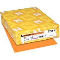 Neenah Astrobrights Premium Color Card Stock, 65 lb, 8.5 x 11 Inches, 250 Sheets, Cosmic Orange