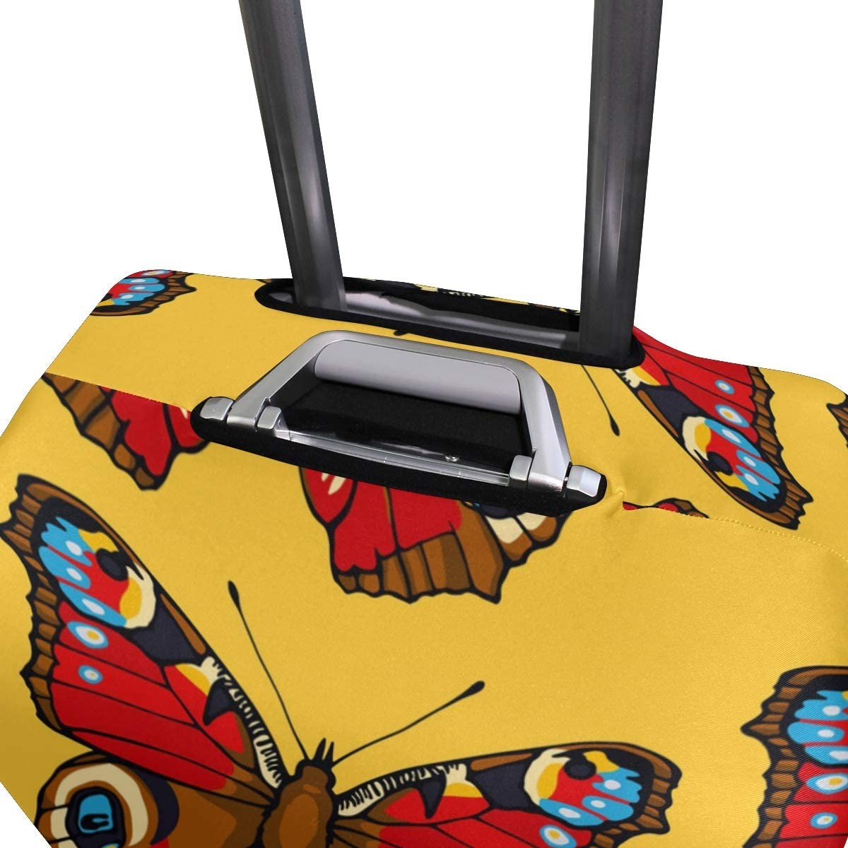 GIOVANIOR Peacock Butterflies Luggage Cover Suitcase Protector Carry On Covers