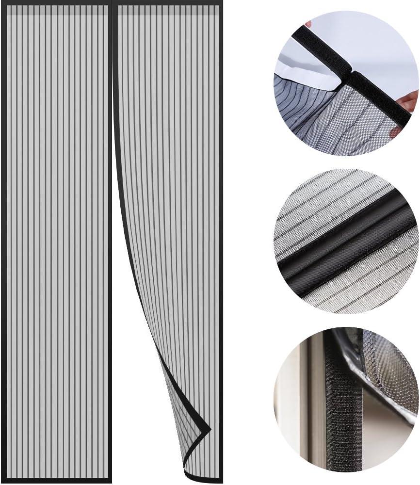 Moskitoschutzvorhang f/ür T/üren 80 x 200 cm, schwarz FREILUFTRAUM