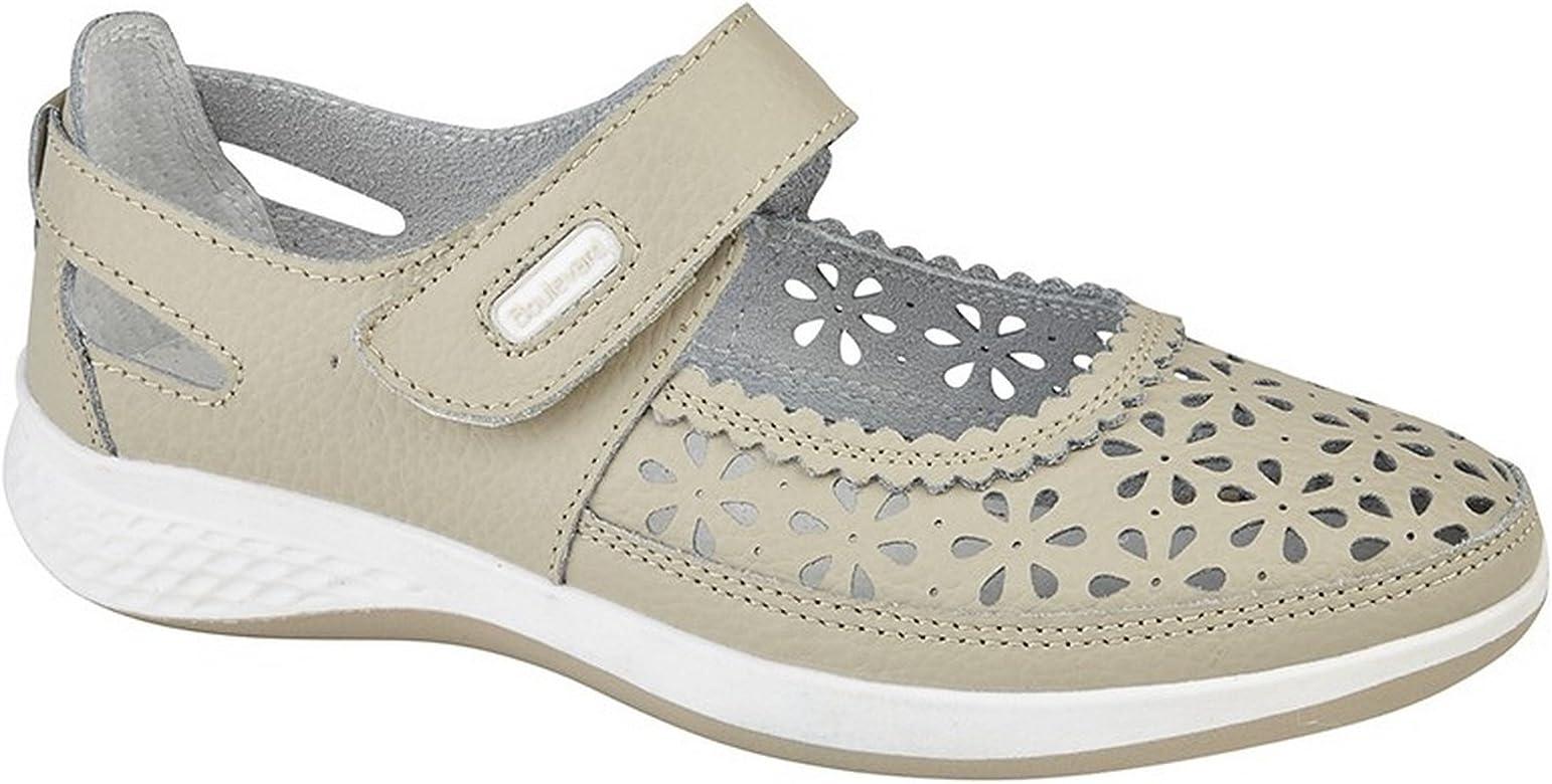 Boulevard - Bailarinas de Horma Ancha con Estampado de Perforaciones para Mujer (36 EU) (Azul Marino): Amazon.es: Zapatos y complementos