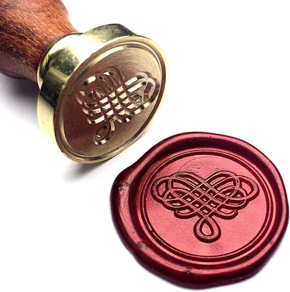 Amazon Com Uniqooo Elegant Love Heart The Knot Wax Seal Stamp For Wedding Great For Embellishment Of Cards Envelopes Invitations Snail Mails Wine Packages Letter Sealing Mother S Day Gift Ideas For Wife