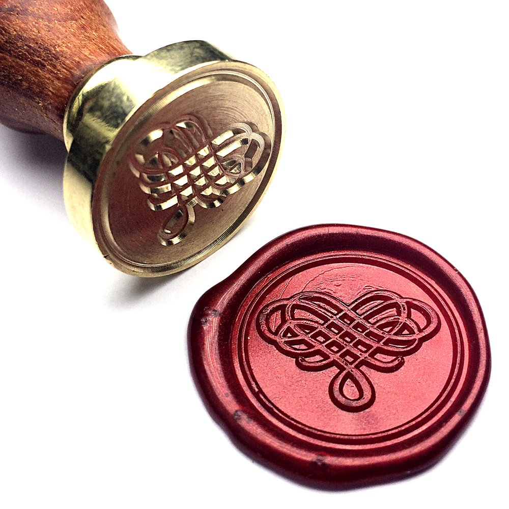 UNIQOOO Arts & Crafts Elegant Love Heart The Knot Wax Seal Stamp ...