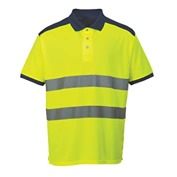 Portwest S379 - Hi-Vis contraste Polo, color, talla Small: Amazon ...