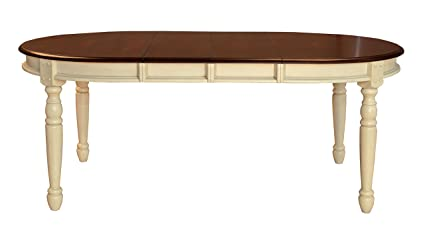 A America British Isles 76u0026quot; Oval Dining Table With (2) 12u0026quot;