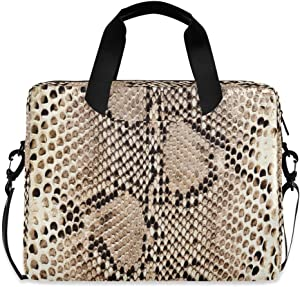 ALAZA Snake Skin Python Laptop Case Bag Sleeve Portable Crossbody Messenger Briefcase w/Strap Handle, 13 14 15.6 inch