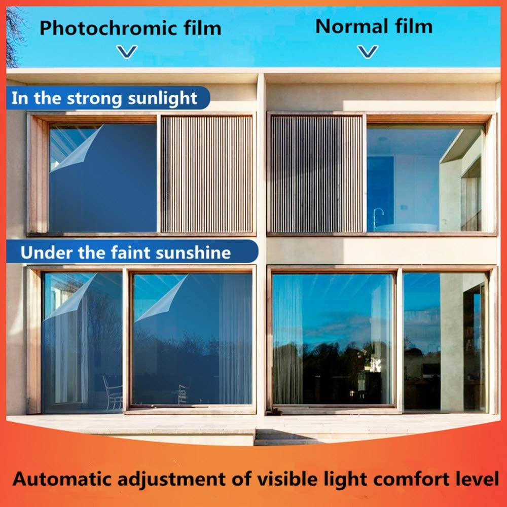 Auto car window film tint Automatic Changed VLT75/%-30/% photochromic solar tint