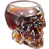 2x TETE Mort CRANE Coupe Crystal Skull Shot Glass vodka verrerie Verres whisky cognac