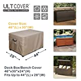 ULTCOVER Patio Deck Box Storage Bench Cover