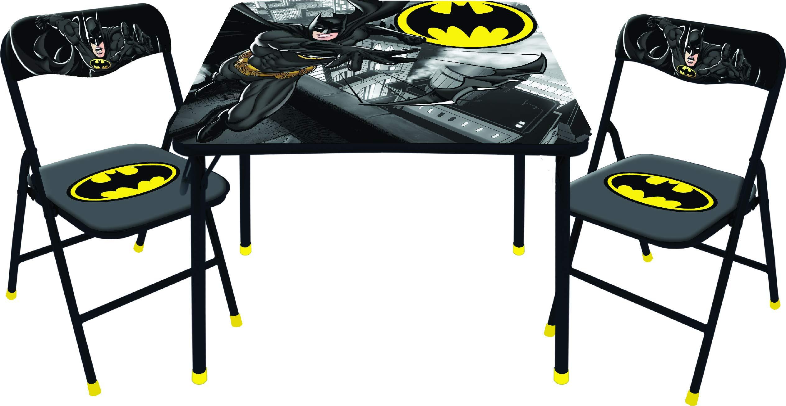 DC Comics Batman 3 Pc Table & Chair Set, Black by DC Comics