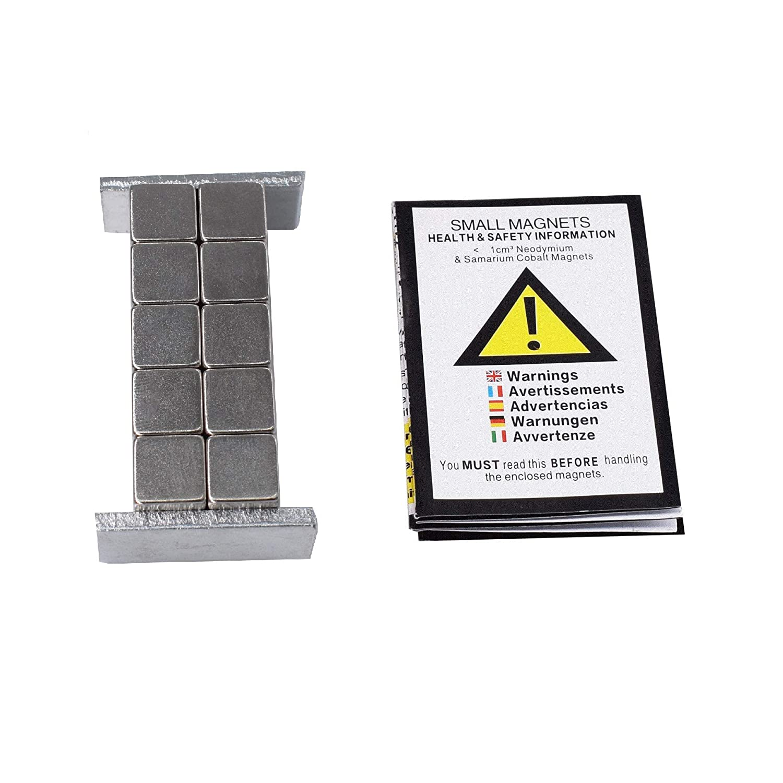 20 pieza Neodimio Imán 8x8x8 mm cubo Extrem Fuerte 2,5 kg de ...