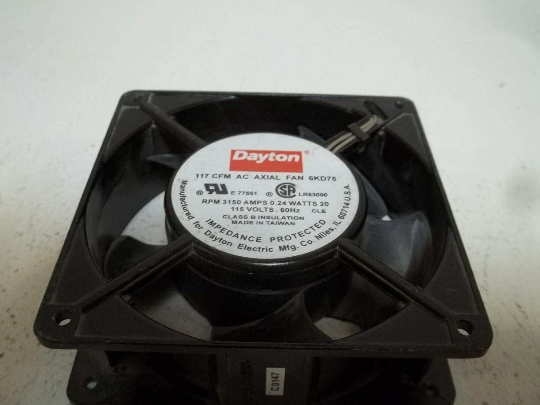 Amazon.com: Dayton 6 KD75 Fan, Axial, 117 CFM, 115 V ...