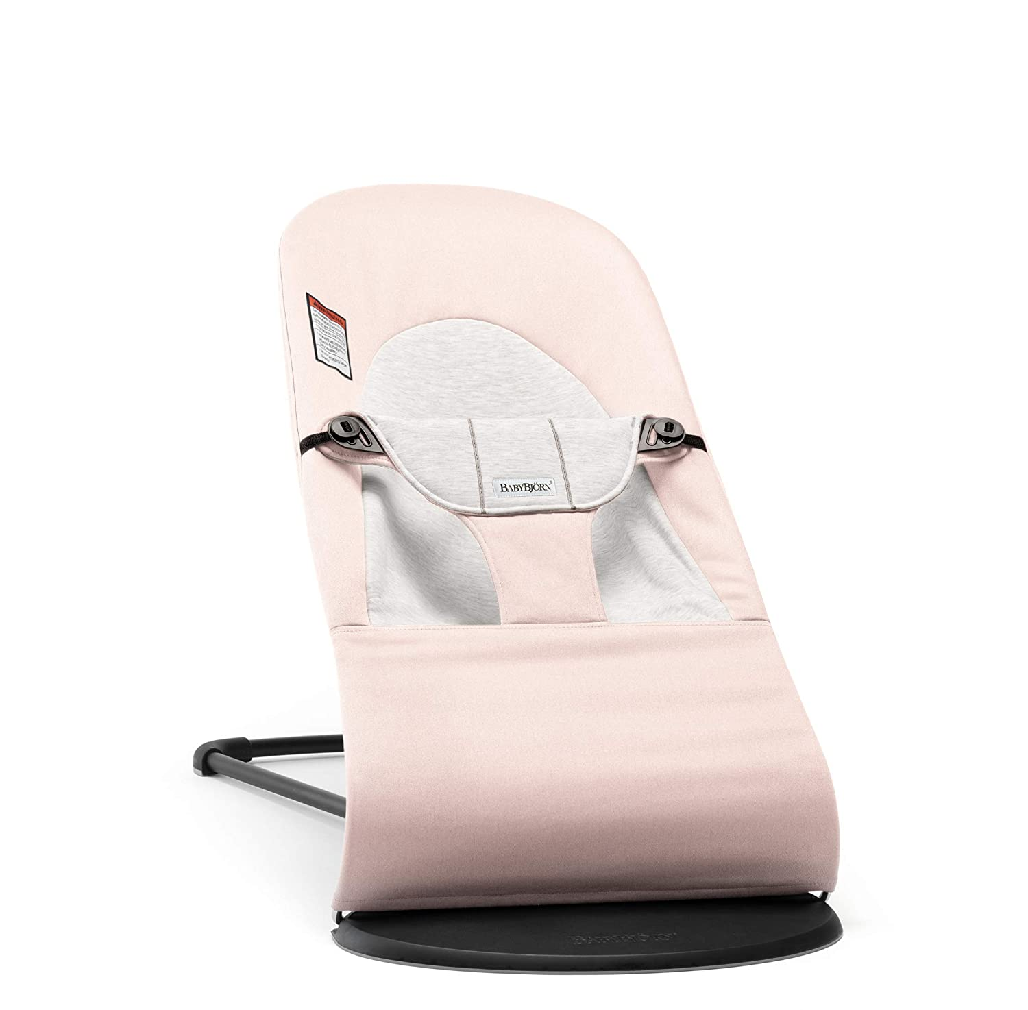 BABYBJÖRN Bouncer Balance Soft, Cotton/Jersey, Light Pink/Gray