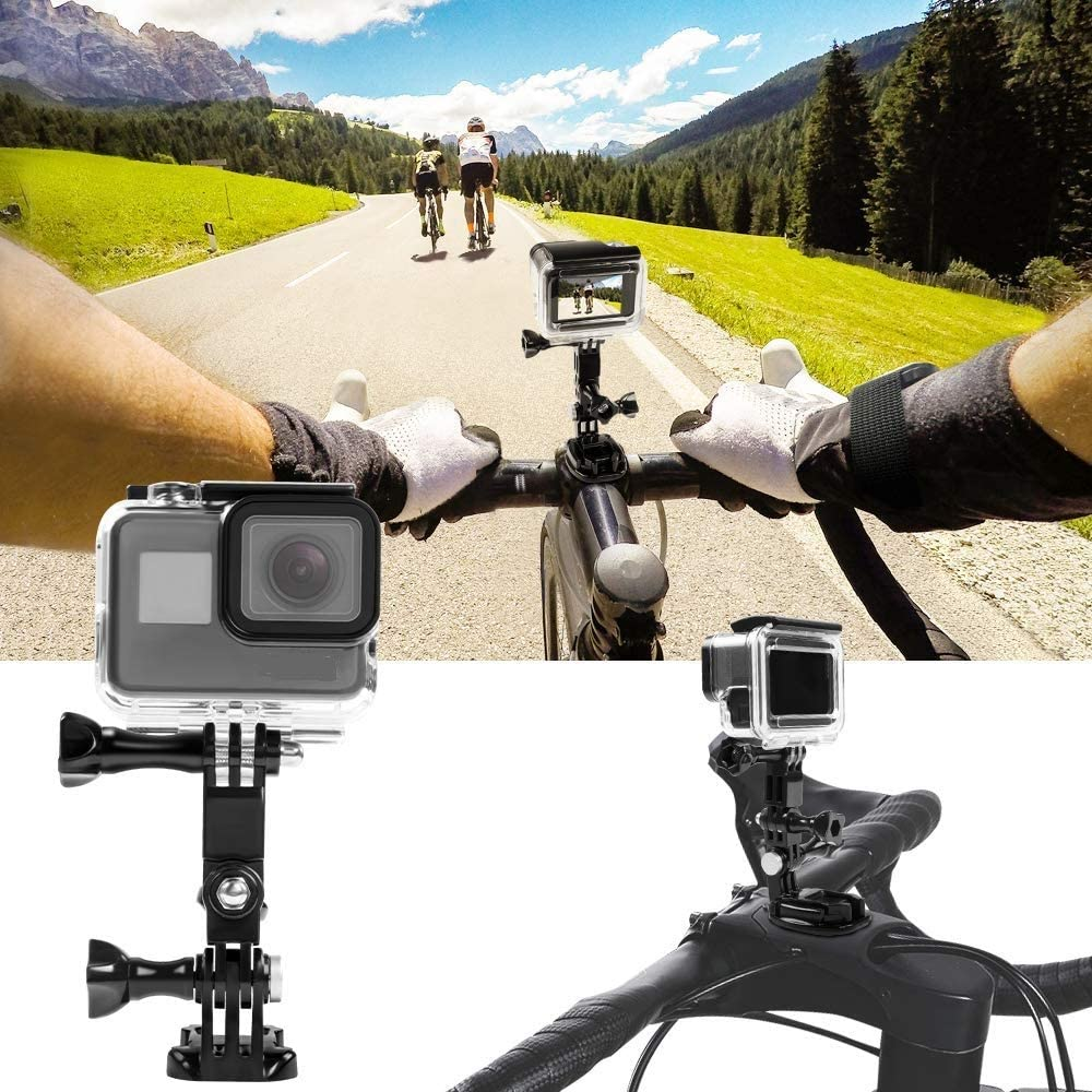 Taisioner Helmet Adjustable Curved Flat Adhesive Mount kit for GoPro Hero 3 3 4 5 6 7 8 Black White Silver GoPro Max Session Fusion Action Camera Accessories
