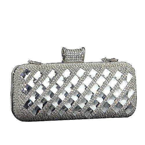 UNYU evening clutch - Cartera de mano para mujer Plateado plata talla única
