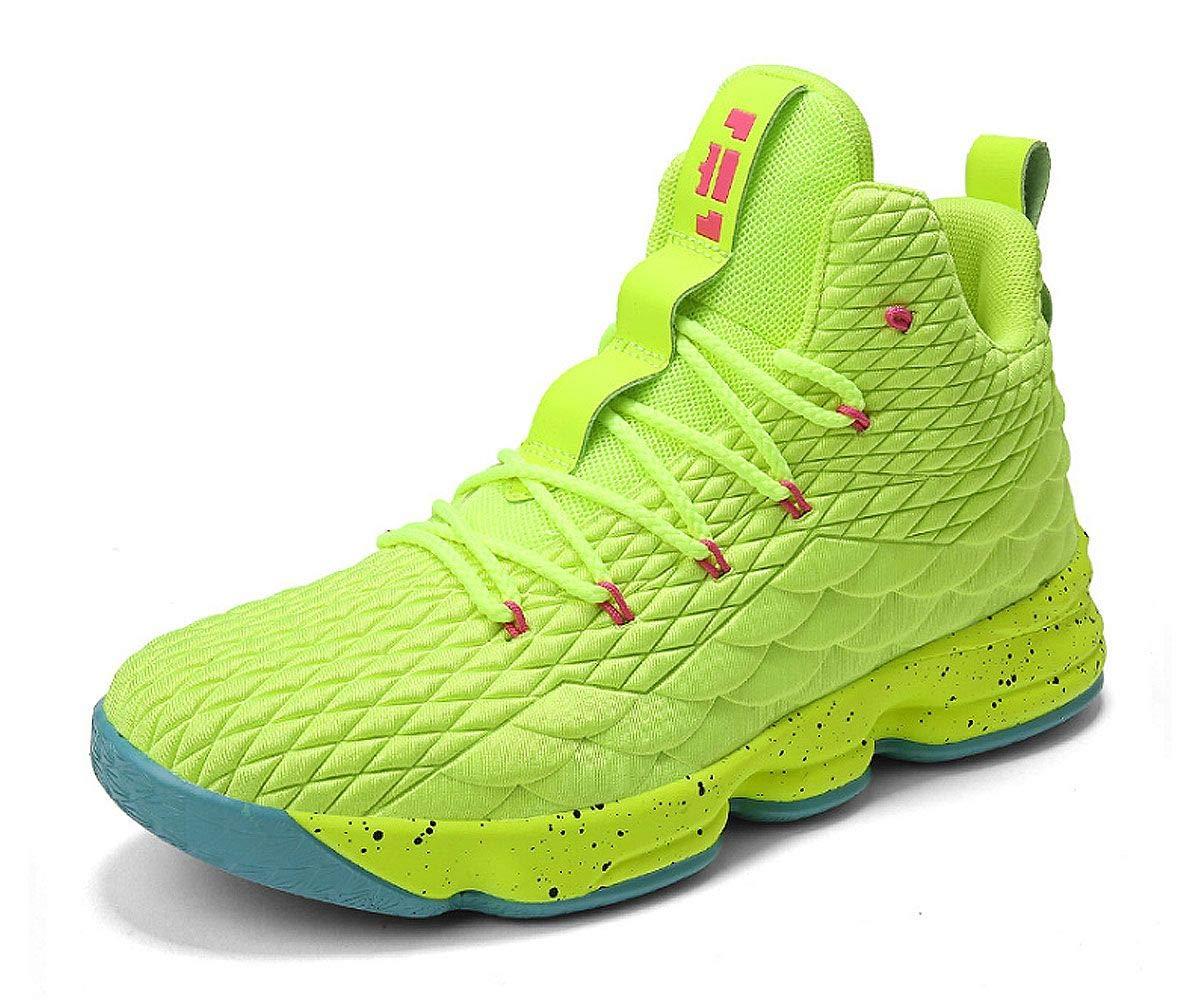 353adbb1b32cdd Galleon - JIYE Women's Men's Fashion Basketball Shoes Wear Resistant Flyknit  Sneakers,Green,39EU=7.5US-Men/8US-Women