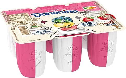 Danone - Danonino Duo, Fresa-Natural, Pack 6 x 50 g