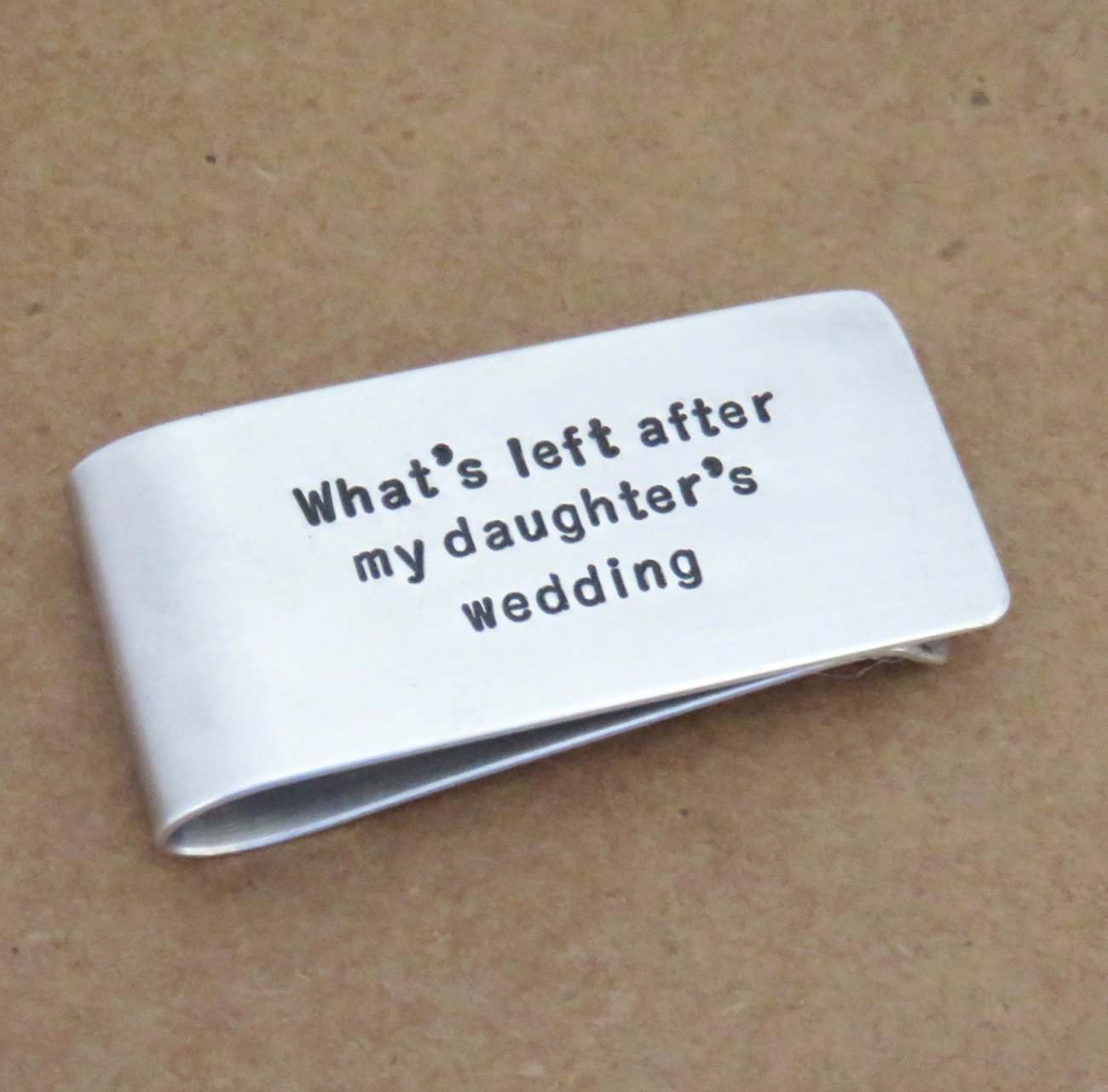 Lightweight aluminum Father's Day gift Money clip father of the bride wedding gift - Funny dad birthday gift
