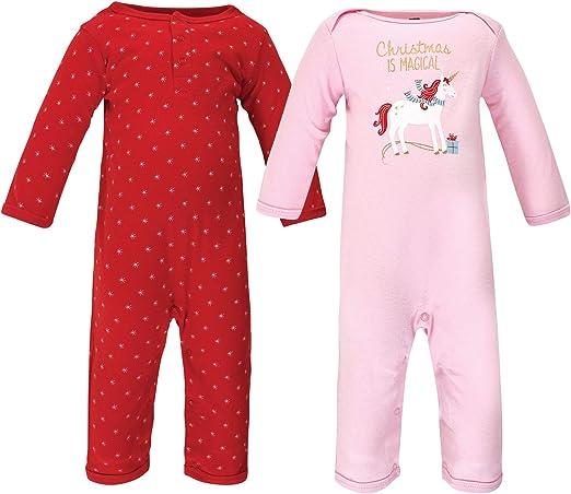 Hudson Baby Girl Fleece Jumpsuit Red Polka Dot