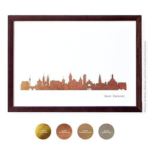 Nurnberg Kunstdruck In Kupfer Gold Silber Rosegold 2 Grossen