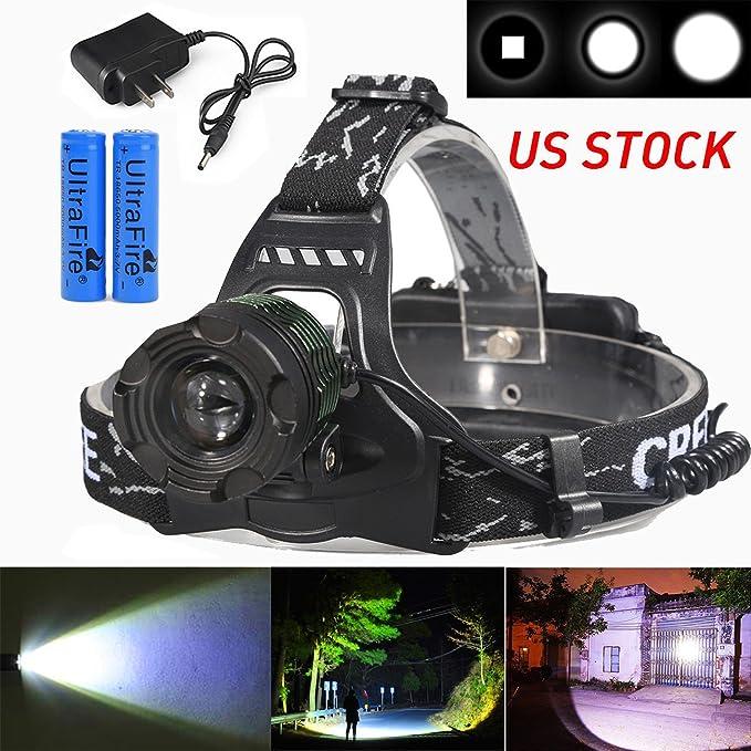 20000LM 3x XM-L T6+2R5 LED Headlamp Headlight Torch Lamp Work Light 4mode 18650