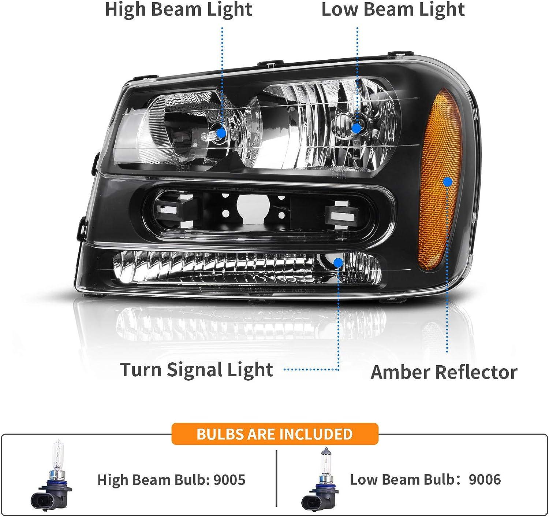 For 2002-2008 Chevrolet Trailblazer Headlight Connector SMP 21246QT 2005 2004