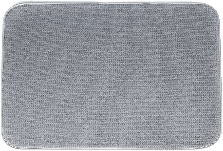 LHFLIVE Microfiber Dish Drying Mat For Kitchen 18 x 24 Inch Extra Large Gray