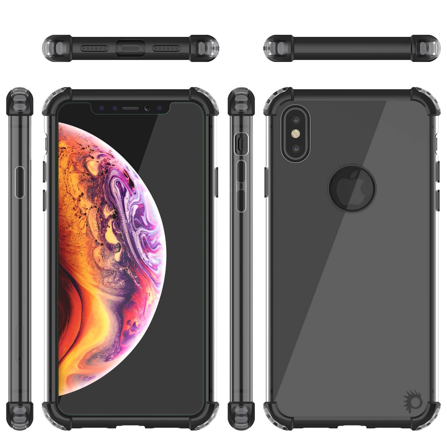 iPhone Xs Max Case, Punkcase [Blaze Series] Protective Cover W/PunkShield Screen Protector [Shockproof] [Slim Fit] Compatible for Apple iPhone Xs Max [Black]