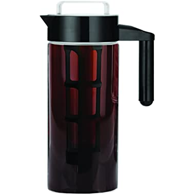 Cold Brew Coffee Maker 1.3L - Brewed Iced Coffee Maker - Glass Pitcher Cold Brewer System with Removable Filter